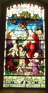 Stained Glass window, St Mullins, Timolin